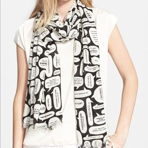 Kate Spade chitter chatter scarf